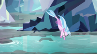 Silverstream diving into the water S8E22