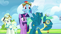 Sky Stinger about to take off into the air S6E24