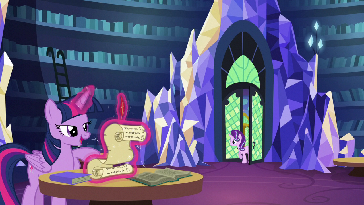 starlight enters the castle library s6e1png - Violet Castle 2016