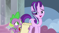 Starlight thanking Spike for his help S8E15