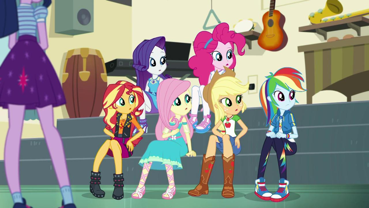 #1589808 - applejack, clothes, equestria girls, fluttershy