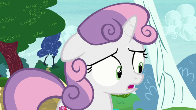 "File:Sweetie Belle ""it's not exactly great"" S7E6.png"