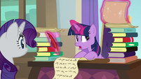 Twilight Sparkle writing a curriculum S8E4