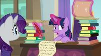 Twilight Sparkle writing a curriculum S8E4