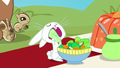 Angel Bunny eating lettuce S8E4.png