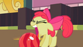 Apple Bloom about to grab the bowling ball with her mouth S2E05.png