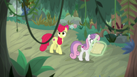 Apple Bloom and Sweetie Belle in the swamp S9E22