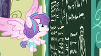 Flurry Heart looks at the chalkboard excitedly S7E3