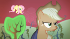Fluttershy and Applejack at Sweet Apple Acres S4E07