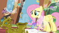 Fluttershy and Breezies looking at Seabreeze S4E16.png
