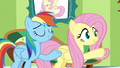 """Fluttershy and Rainbow """"you can pass the test"""" S6E11.png"""