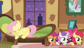 Fluttershy falls asleep while foalsitting S1E17.png