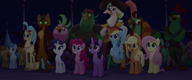 Mane Six and friends watching Songbird Serenade MLPTM