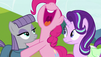 Pinkie Pie laughing loudly S7E4