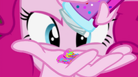Pinkie Pie pouring sprinkles into her palm EG4