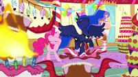 Princess Luna appears in Pinkie's dream S5E13