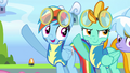 Rainbow and Lightning putting their hooves up S3E07.png