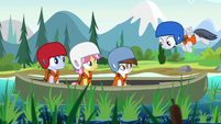 Rumble singing to canoeing campers S7E21