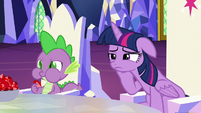Spike eating rubies in the throne room S5E22