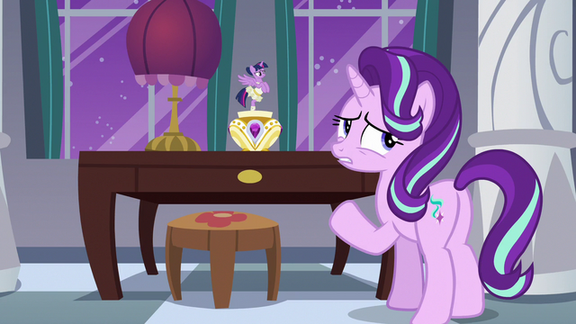 "File:Starlight Glimmer ""instead of talking about it"" S7E10.png"