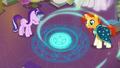Starlight and Sunburst pour magic into the circle S7E1.png