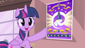 Twilight pointing towards the poster S4E11.png