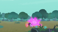 Twilight teleporting herself and Spike S8E11