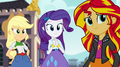 AJ, Rarity, and Sunset listening to Twilight EG2.png