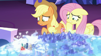 AJ and Fluttershy worried about going to Las Pegasus S6E20