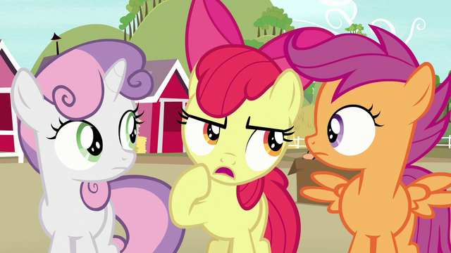 """File:Apple Bloom """"you've been goin' there a lot lately"""" S7E8.png"""
