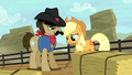 Applejack and Silverstar looking at the dirt S5E6.png