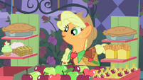 Applejack asks Soarin' which item he wants S1E26