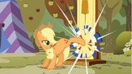 Applejack kicking strength test target S1E13