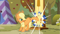 Applejack kicking strength test target S1E13