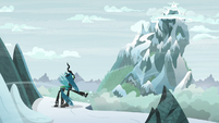 Chrysalis kicks the snow in frustration S9E8