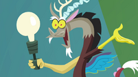 Discord-shaped lamp S4E22