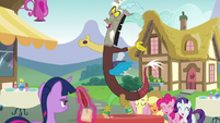 Discord peanut-butter tap-dancing on table S5E22