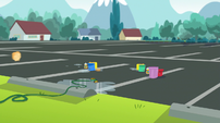 Empty parking lot at Canterlot High School EGS1