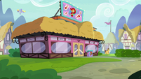 Exterior view of Hay Burger restaurant S9E16