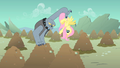 Fluttershy Fido hold by tail S01E19.png