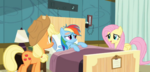 Fluttershy consoling Rainbow Dash S2E16