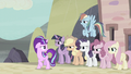 Mane Six standing behind Starlight S5E2.png