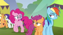 "Pinkie Pie ""sorry for making us late"" S8E20"