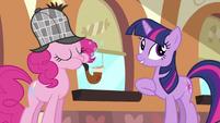 Pinkie Pie blowing bubbles S2E24