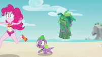 Pinkie and Spike run away from the monster EGFF