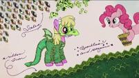 Pinkie covers Cherry Berry's costume in glitter RPBB3