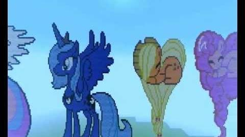 Pixel art - My little pony (Minecraft)
