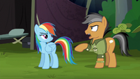 Quibble Pants about to say something S6E13