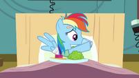 Rainbow Dash pulling S02E16