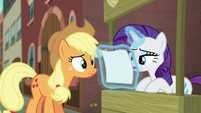 Rarity starts reading the flyer S5E16